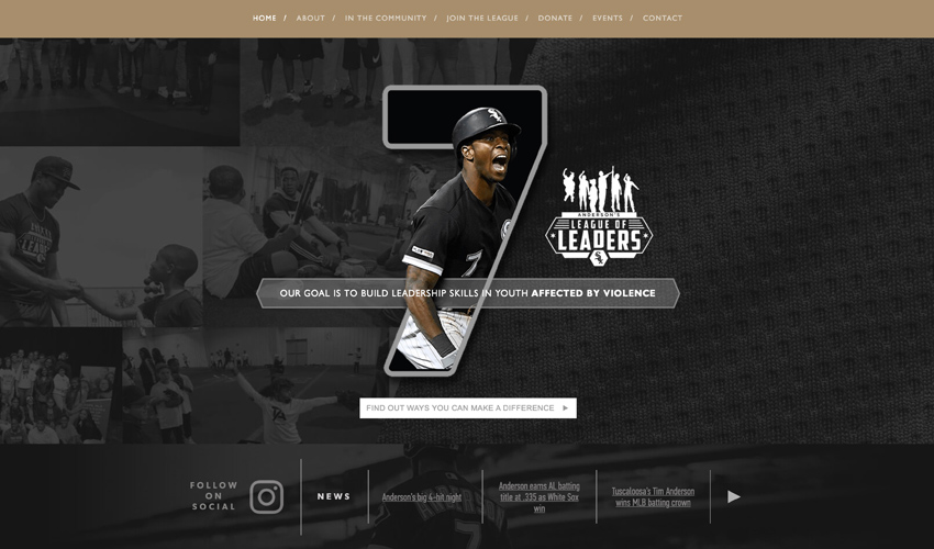 Website for White Sox Tim Anderson