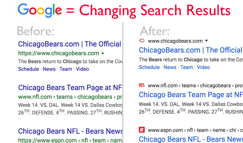 Is Google Changing its Search Results?